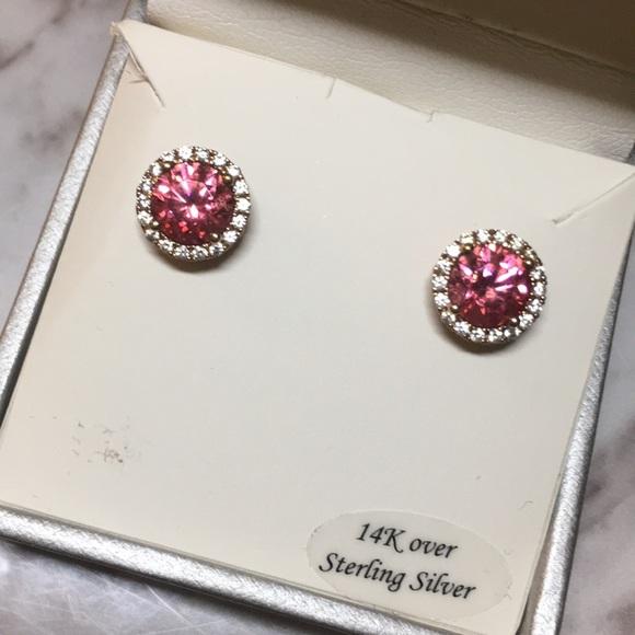 2c0a2c6ef Macy's Jewelry | 14k Pink Swarovski Cubic Zirconia Rosegold Earring ...